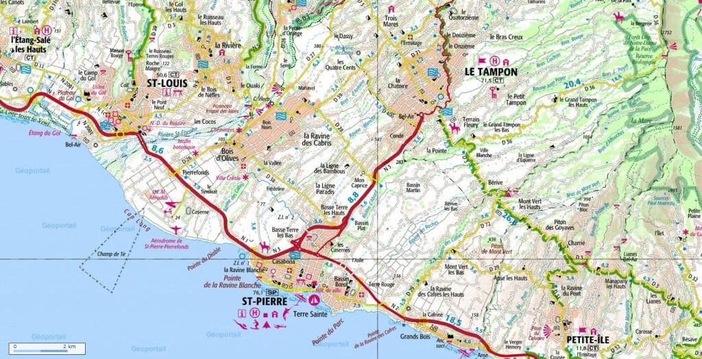 Plan général de la commune de Saint-Pierre